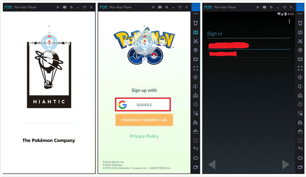 Pokemon go Pc setup Download on Nox App Player