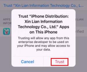 Tutu iOS App Profile Install