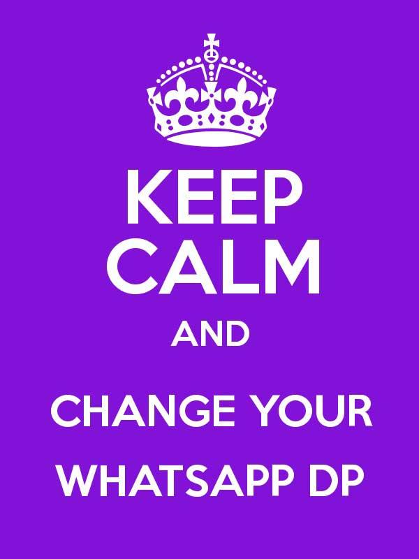 Keep Calm Dp for Whatsapp