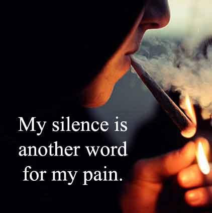 Silence Pain Dp for Whatsapp