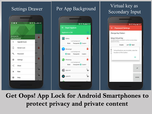 K Note Oops App Lock for Android