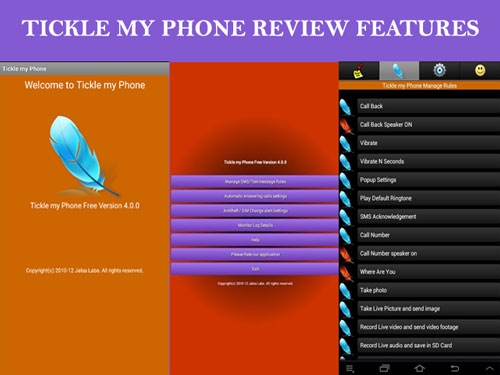 Tickle my Phone App Review And Features