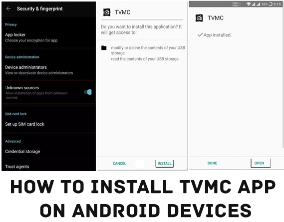 Install TVMC APP on Android Devices