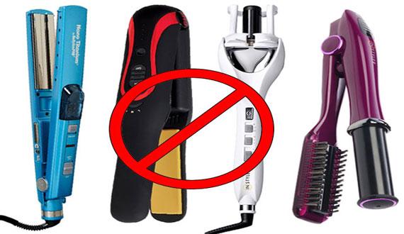 Avoid using Straightners and Dryers