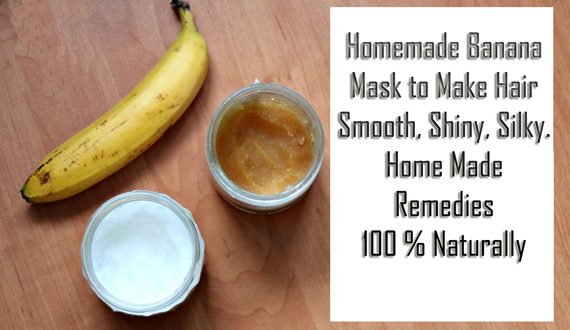 Make Banana Mask to get Smooth, Silky Hair