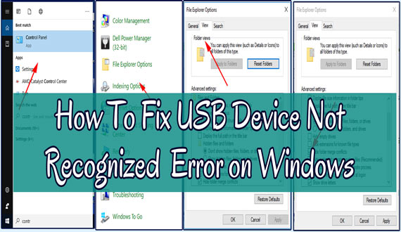 How To Fix And Solve USB Device Not Recognized