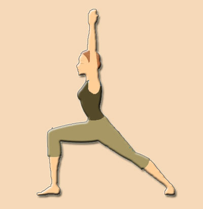 Virabhadrasana Warrior Yoga Pose