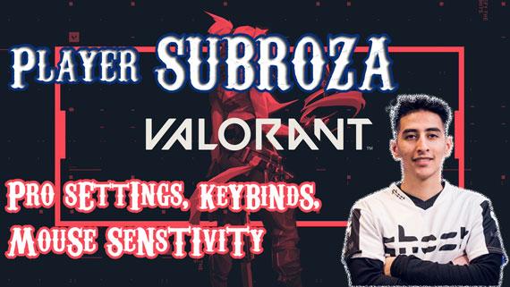 TSM Subroza Valorant Pro Settings