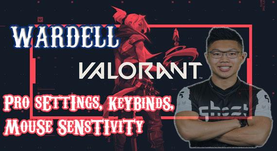 Wardell Valorant Pro Settings, KeyBinds