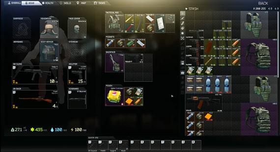 Stash Inventory in EFT Game