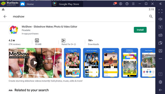 Install MoShow App for Windows Pc/Laptop