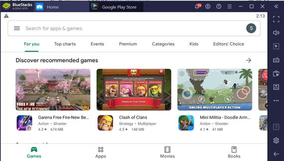 Open Google Play Store in Bluestacks