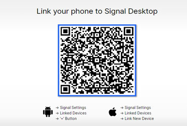 How to link the phone to Signal Desktop