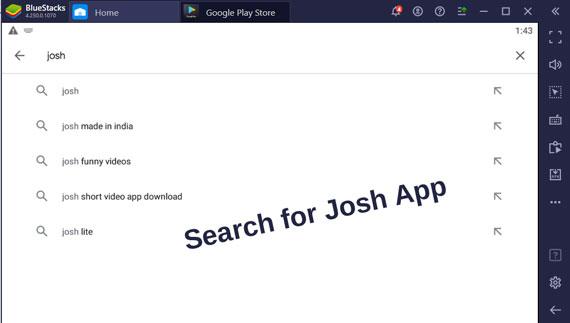 Search for Josh App on Emulators in Windows Pc